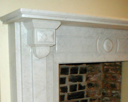 Hand crafted stone fire surrounds